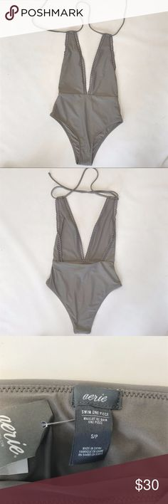Aerie One Piece Swim Suit NWT one piece suit from American Eagle Aerie.   Please ask questions if you have any. No trades. Feel free to make an offer. aerie Swim One Pieces