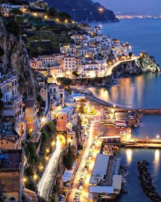 Amalfi at Night - Sorrento - Italy