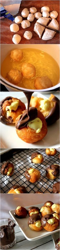 Boston Cream Doughnut Holes