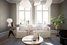 COCO LAPINE DESIGN -COCO LAPINE DESIGN Studio Decor, Small Sofa, Minimalist Home Decor, Small Furniture, Round Dining Table, Large Windows, Cozy House, Decoration, Armchair