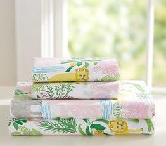 http://www.potterybarnkids.com/products/jungle-safari-sheet-set-girl/?pkey=dgirls-sheeting