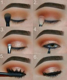 Gorgeous Makeup: Tips and Tricks With Eye Makeup and Eyeshadow – Makeup Design Ideas Makeup Eye Looks, Eye Makeup Steps, Cute Makeup, Gorgeous Makeup, Skin Makeup, Eyeshadow Makeup, Drugstore Makeup, Makeup Brushes, Make Up Gold