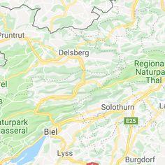 Ausflugsziele Schweiz: 99 Ideen für einen tollen Tagesausflug Map, Solothurn, Day Trips, Road Trip Destinations, Switzerland, Hiking, Location Map, Peta, Maps
