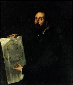 Portrait of Giulio Romano - Titian.  c.1536.  Oil on canvas.  101 x 86 cm.  Palazzo della Provincia, Mantua, Italy.