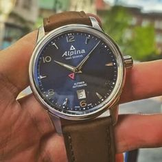 Alpina Watches Alpiner Automatic with Navy blue dial Alpina Watches, Sport Watches, Chronograph, Quartz, Navy Blue, Shopping, Accessories, Ornament
