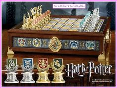 Harry Potter – Hogwarts Houses Quidditch Chess - Play Gryffindor vs. Slytherin or Hufflepuff vs. Ravenclaw or any combination. - http://geekarmory.com/harry-potter-hogwarts-houses-quidditch-chess/