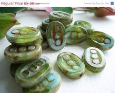 On Sale Table Cut Czech Beads Oval 3dot by BeadsandmorebyYashma, £2.21