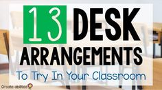 Desk arrangements are important in organizing and managing your classroom. How you set up your desks affects elementary student behavior & learning, mood & tone of your room, transitions, partner, individual & group activities. Many factors go into these 5th Grade Classroom, High School Classroom, Classroom Setup, Classroom Design, Future Classroom, Classroom Organization, Classroom Management, Organizing, Behavior Management