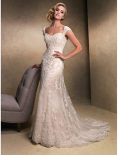 Tulle and Lace Sweetheart Neckline Wedding Dress with Detachable Straps MS028 - Bridal Gowns - RainingBlossoms