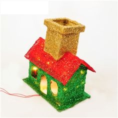 Christmas High Quality Wrough Iron House Decoration with Light