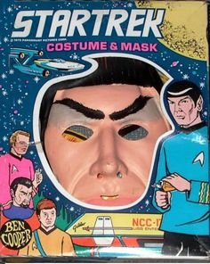 Ben Cooper 'Mr Spock, Star Trek' Costume and Mask. Boxing Halloween Costume, Classic Halloween Costumes, Halloween Kostüm, Holidays Halloween, Retro Vintage, Vintage Toys, Awesome Pumpkin Carvings, Rick And Morty Poster, The Mask Costume
