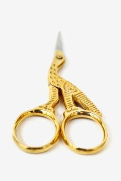 These antique style crane scissors are a functional and beautiful addition to your workspace. $12.50 www.mooreaseal.com