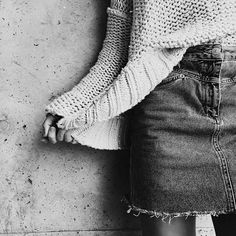 glamblack: Denim skirt >> (Polished-to-Perfection) Denim Fashion, Fashion Outfits, Happily Grey, Estilo Denim, Street Style, Lookbook, Autumn Winter Fashion, Winter Style, Style Guides