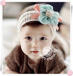 赤ちゃん ベビー ヘアバンド ヘアアクセ 花 レース:kidsa12-002:Blue Cow - Yahoo!ショッピング - ネットで通販、オンラインショッピング
