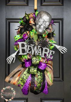 A personal favorite from my Etsy shop https://www.etsy.com/listing/526154362/halloween-swag-halloween-wreath-glittery