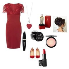 """""""Red Luxury"""" by loughrangeorgia ❤ liked on Polyvore featuring Scarlett B, Christian Louboutin, NARS Cosmetics, NYX, Max Factor, MAC Cosmetics, Tiffany & Co. and Cartier"""