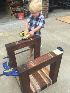 Scrap Wood Side Table { Free DIY Tutorial