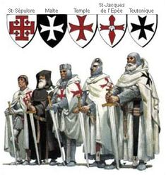 Mysteries of the Knights Templar, Cathars, Rennes-le-Chateau, the Holy Grail and Trobadours . The main Catholic military orders of monastic-knights Medieval Knight, Medieval Armor, Medieval Fantasy, Crusader Knight, Knight Armor, Knights Hospitaller, Knights Templar, Knight Orders, Military Orders