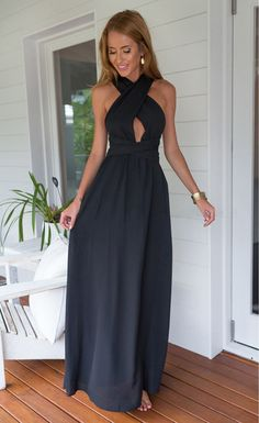 Black Perfect Date Maxi Dress - Stella La Moda