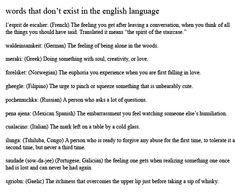 English is so complicated and yet lacks so much...