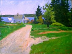 Beach Road: fine art, oil landscape/seascape painting on linen that measures 30 x 40 inches by artist Jerry Weiss