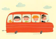 Bus illustration by Ekaterina Trukhan