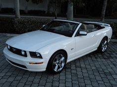 Auto Haus of Fort Myers is offering this Carfax Certified, Recently Inspected & Serviced, 2006 Ford Mustang GT Convertible with 15k Miles for $19,900. It comes nicely equipped with a Performance White Exterior, Tan Leather Interior, 4.6L V-8, BBK Performance Intake, Flowmaster Exhaust System, Strut Tower Brace, 5-Speed Manual Transmission & much More.  Call Tom at Auto Haus of Fort Myers for more details 239-337-4287.