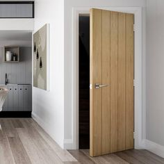 We deliver for free to most UK Mainland postcodes! Featuring North American white oak veneers, our new Torino flush interior door adds a natural, modern style to any room. Its clean, bold lines give this interior oak door an clean but different look. Grey Internal Doors, Internal Folding Doors, Grey Doors, Oak Doors, Panel Doors, Sliding Wardrobe Doors, Sliding Doors, Casa Milano, Veneer Door