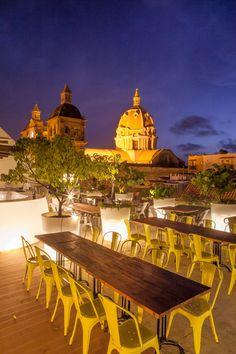 La terraza Crepes & Waffles Cartagena, Colombia.
