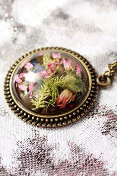Collier mix forêt ronde cadeaux pendentif pour ami par SweetLine