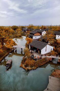 The quaint little village of Liuxia, Zhejiang, China.