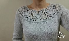 Crochet Patterns Top Ravelry: Leaf Yoke Top pattern by Angela Hahn Lace Knitting Patterns, Knitting Designs, Knitting Stitches, Sweater Patterns, Knit Picks, Top Pattern, Free Pattern, Pulls, Knit Crochet