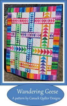 This bright, breezy flying geese quilt comes together surprisingly quickly.  The 1/4 yard cuts of fabric allow quick and easy strip piecing of the border and greatly reduce the number of individual patches that need to be cut.  However, if you prefer to us...
