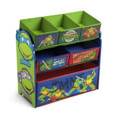 It's time for kids to get things sorted in the Delta Nickelodeon Teenage Mutant Ninja Turtles Multi-Bin Toy Organizer. The playroom or bedroom is a clutter-free Teenage Mutant Ninja Turtles, Kids Storage, Toy Storage, Storage Racks, Storage Ideas, Ninja Turtle Room, Boy Room, Kids Room, Home Organization