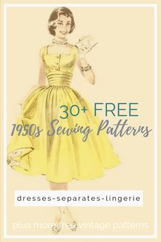 Free Style Sewing Patterns - - Browse free vintage patterns, retro hair tutorials and affordable vintage clothing. Enjoy diy fashion crafts and classic style inspiration. Dress Pattern Free, Dress Sewing Patterns, Sewing Patterns Free, Free Sewing, Clothing Patterns, Patterns For Dresses, Dress Paterns, 1950s Dress Patterns, 1950s Dresses