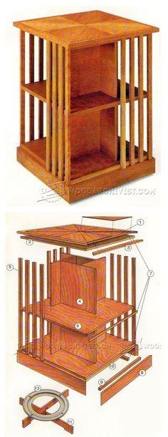 Rotating Bookshelf Plans - Furniture Plans and Projects | WoodArchivist.com