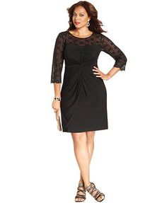 4c22b3502a2e5 Alex Evenings Plus Size Lace Gathered Dress Women - Dresses - Macy s