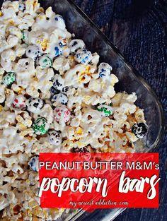Peanut Butter M&Ms Popcorn Bar Recipe
