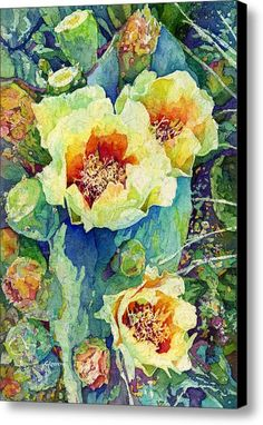 Cactus Splendor Ii Canvas Print / Canvas Art By Hailey E Herrera