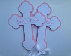 Large Cross Centerpiece  set of 2  Baptism by SweetLeilaniCreation, $6.00