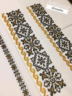 Cross Stitch Embroidery, Cross Stitch Patterns, Palestinian Embroidery, Embroidery Fashion, Loom Patterns, Floral Tie, Animal Print Rug, Bridal Dresses, Needlework