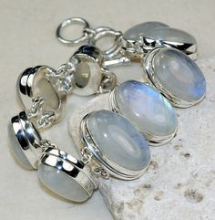 Moonstone bracelet designed and created by Sizzling Silver. Please visit  www.sizzlingsilver.com. Product code: BR-8179