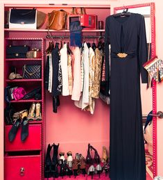 Travelling closet of stylist Erica Pelosini | via The Coveteur