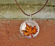 Fall Leaf Necklace by justbujewelry on Etsy, $20.00