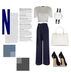 """""""marine style"""" by ev-min ❤ liked on Polyvore featuring Miss Selfridge, Alexander Wang, Casadei, Prada and PolyPower"""