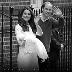 ¡Es niña! La Duquesa de Cambridge, Kate Middleton y el Príncipe William presentan a su segunda hija. ¡Muchas Felicidades! #bogamexico #moda #katemiddleton #duchessofcambridge #princewilliam #royalbaby2 #baby #daughter #itsagirl #girl #cute #lovely #uk #jennypackham #royalbab
