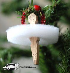 Bailarina que cuelga en el arbol Ballet Dancer #TreeOrnament  #Christmas #Navidad #DIY