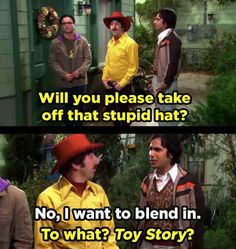 "Raj told Howard exactly what he thought of this outfit. 21 Moments ""The Big Bang Theory"" Had Absolutely No Chill The Big Theory, Big Bang Theory Show, Big Bang Theory Funny, Big Bang Theory Quotes, Big Bang Memes, Leonard Hofstadter, Tv Quotes, Movie Quotes, Funny Quotes"