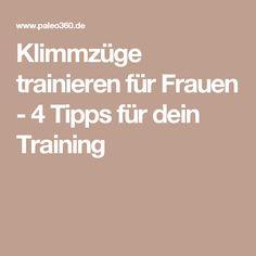 Klimmzüge trainieren für Frauen - 4 Tipps für dein Training