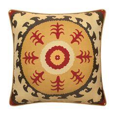 """Elaine Smith 22"""" Suzani Sun designer throw pillow"""
